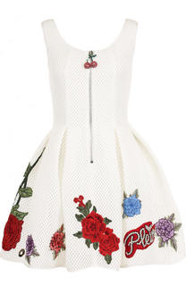 Приталенное мини-платье с контрастной отделкой Philipp Plein