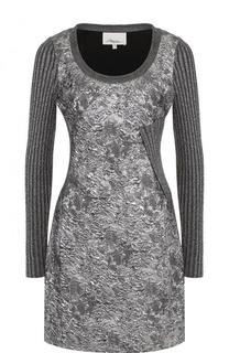 Мини-платье с длинным рукавом и металлизированной нитью 3.1 Phillip Lim