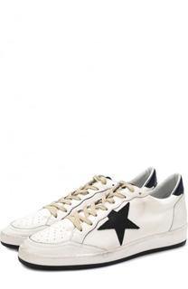 Комбинированные кеды Ball Star на шнуровке Golden Goose Deluxe Brand