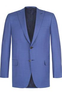 Однобортный пиджак из шерсти с остроконечными лацканами Brioni