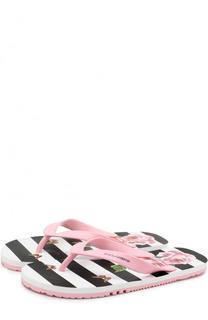 Резиновые шлепанцы с принтом Dolce & Gabbana