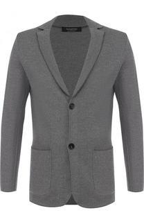 Однобортный пиджак из шерсти Ermenegildo Zegna