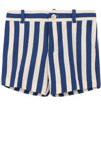 Хлопковые шорты в полоску Gucci