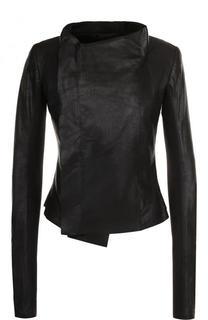 Однотонная кожаная куртка Rick Owens