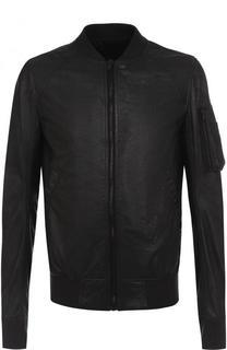 Кожаная куртка-бомбер на молнии Rick Owens