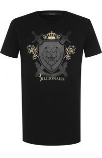 Хлопковая футболка с аппликацией Billionaire