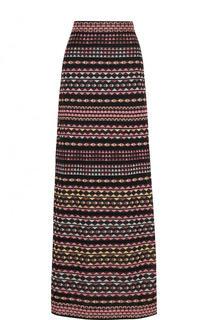 Вязаная юбка-макси с принтом M Missoni