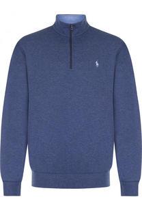Хлопковый однотонный свитер Polo Ralph Lauren