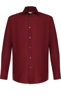 Шелковая рубашка с воротником кент Brioni