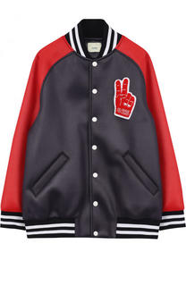 Куртка-бомбер с нашивками Fendi Roma