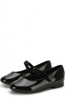 Лаковые балетки с застежками велькро Dolce & Gabbana