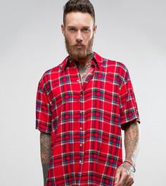 Фестивальная рубашка классического кроя с короткими рукавами Reclaimed Vintage Inspired - Красный