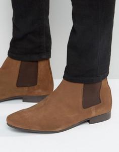 Коричневые замшевые ботинки челси River Island - Коричневый