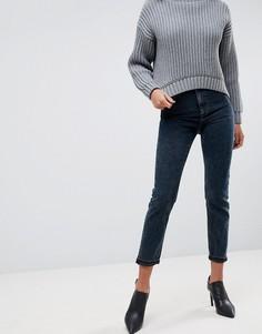 Узкие джинсы в винтажном стиле с завышенной талией ASOS FARLEIGH - Синий
