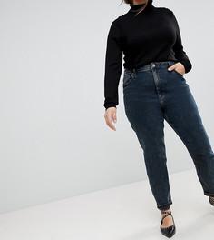 Джинсы в винтажном стиле с завышенной талией ASOS CURVE FARLEIGH - Синий