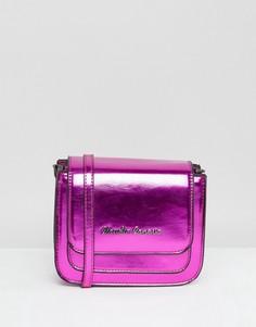 Розовая сумка через плечо с эффектом металлик Claudia Canova - Розовый