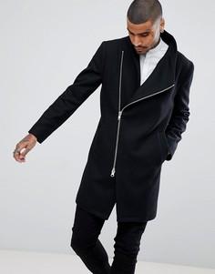Пальто с асимметричной молнией Religion - Черный