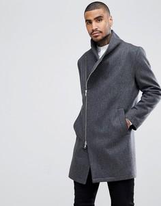 Пальто с асимметричной молнией Religion - Серый
