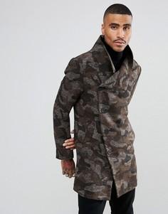 Пальто с камуфляжным принтом Religion - Зеленый