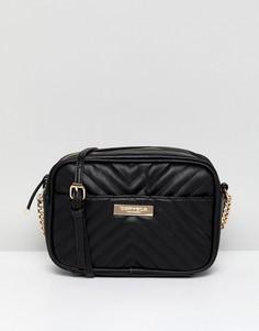 Стеганая сумка через плечо Carvela Rolly - Черный