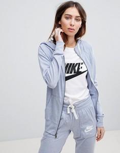 Серый худи на молнии Nike Gym Vintage - Серый