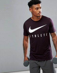 Красная футболка Nike Training Dri-FIT Athlete 739420-652 - Красный