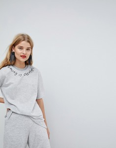 Свитшот с вышивкой ASOS Made In Kenya - Серый