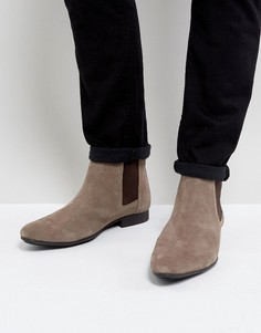 Замшевые бежевые ботинки челси Frank Wright - Бежевый