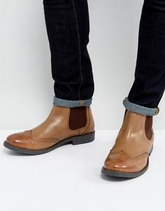 Светло-коричневые кожаные броги Frank Wright - Черный