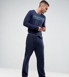 Темно-синяя пижама с длинными рукавами Tommy Hilfiger - Темно-синий