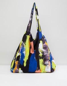 Большая сумка-шоппер с принтом ASOS Made In Kenya - Мульти