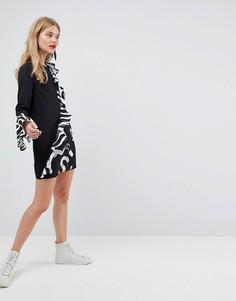 Платье с принтом ASOS Made In Kenya - Черный