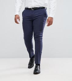 Синие брюки скинни в клетку ASOS PLUS Wedding - Синий