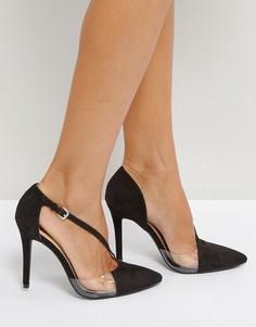 Асимметричные туфли на высоком каблуке Qupid - Черный