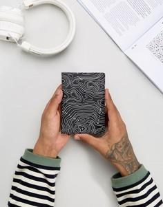 Кожаная обложка для паспорта с дизайном карты ASOS - Черный
