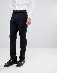 Темно-синие узкие брюки из ткани с добавлением кашемира ASOS Wedding - Темно-синий