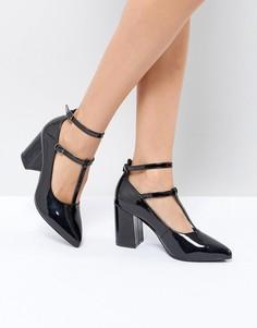 Туфли на высоком каблуке с острым носком St Sana - Черный