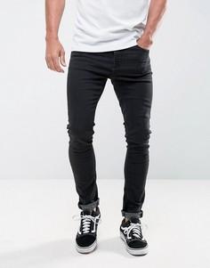 Супероблегающие черные джинсы LDN DNM - Черный