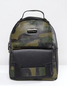Рюкзак с камуфляжным принтом Claudia Canova - Зеленый