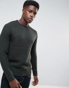 Джемпер крупной вязки Threadbare - Зеленый