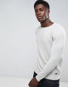 Джемпер с необработанными краями Threadbare - Серый