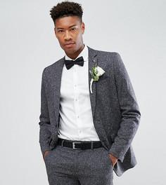 Приталенный пиджак в крапинку Farah TALL Wedding - Серый