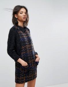 Платье-сарафан из твидового трикотажа крупной вязки Anna Sui - Мульти