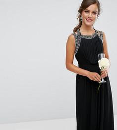 Платье макси с отделкой на спине TFNC Petite WEDDING - Черный