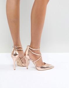 Туфли-лодочки цвета розового золота Lipsy - Золотой