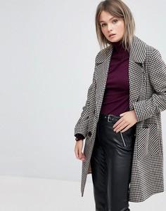Двубортное пальто в клетку Miss Selfridge - Мульти