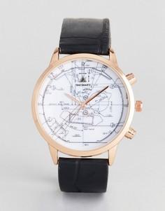Часы (золотисто-розовый/черный) ASOS - Черный