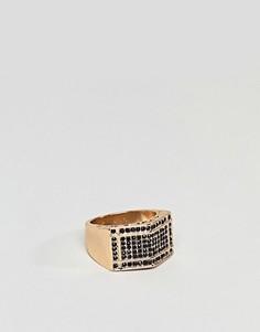 Большое кольцо с камнями ASOS - Золотой