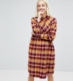 Платье-рубашка в клетку Monki - Мульти