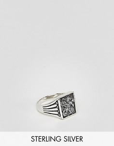 Серебряное кольцо-печатка ASOS - Серебряный